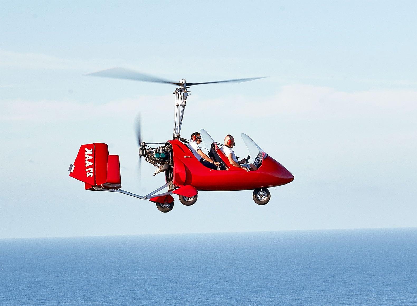 Gyrocopter, Saint‑Martin vue du ciel pour les touristes et les locaux !