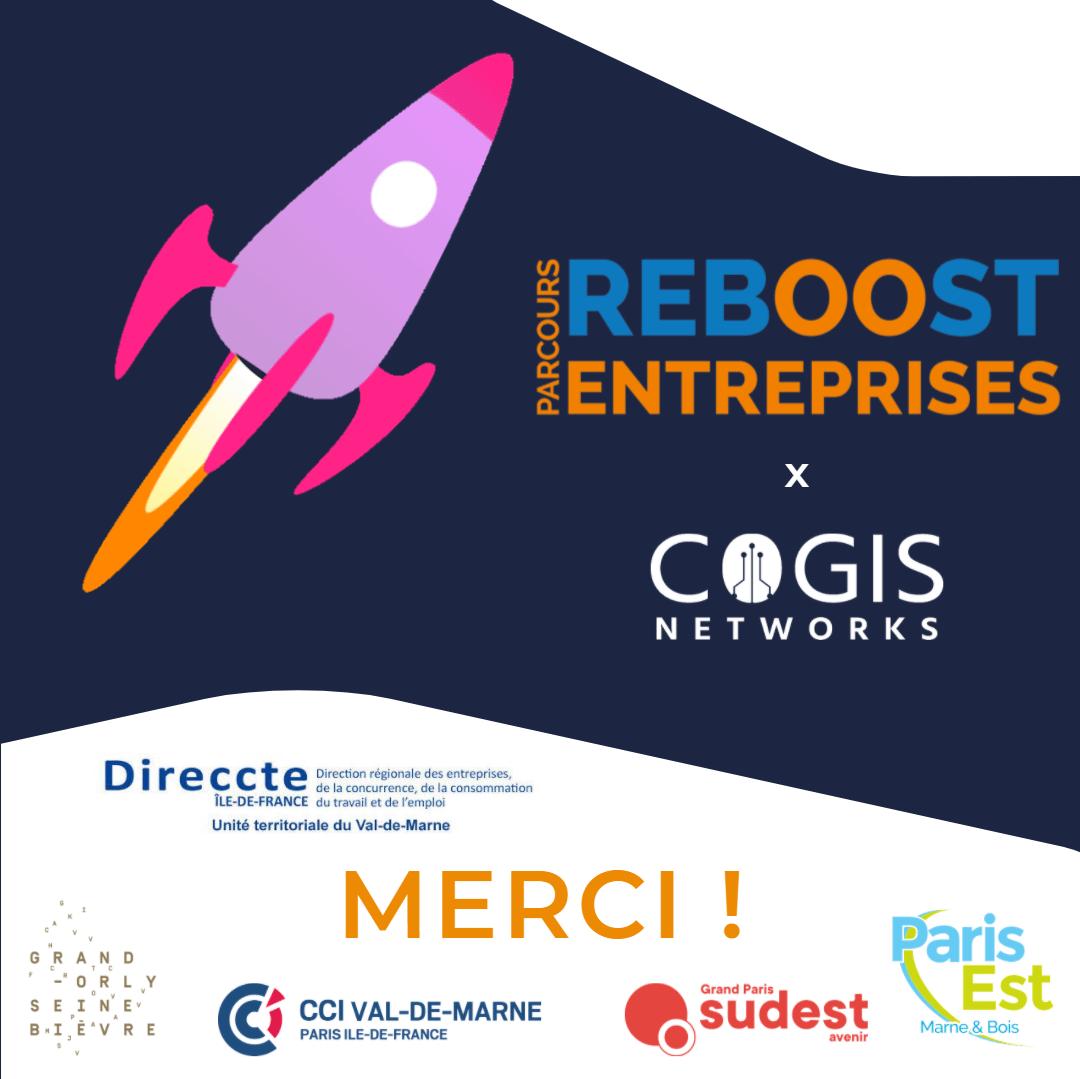"""COGIS intègre le parcours """"REBOOST ENTREPRISES"""" de la CCI Val-de-Marne"""